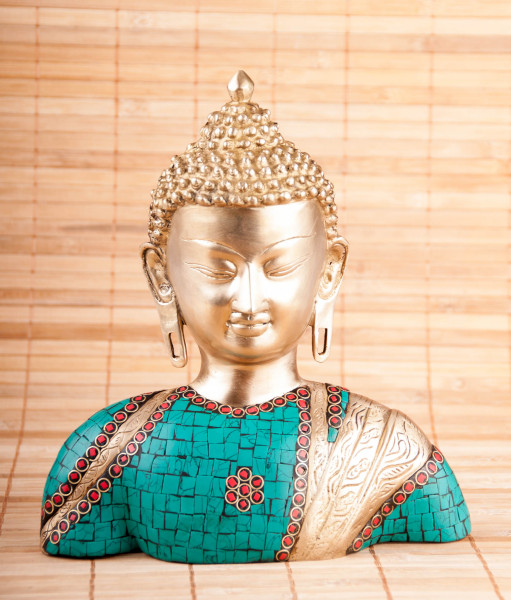 Buddha Büste aus Messing