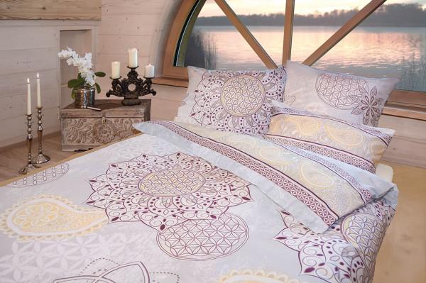 Bettbezug  Blume des Lebens  hortensia