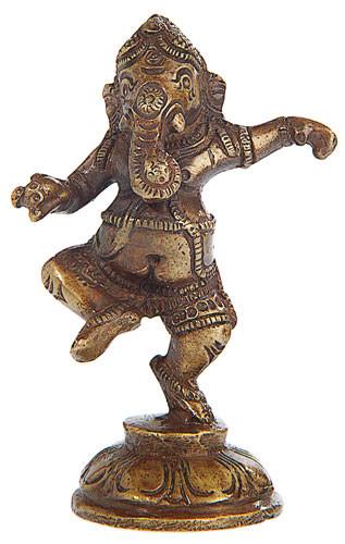 Ganesha tanzend, Messing, 9 cm