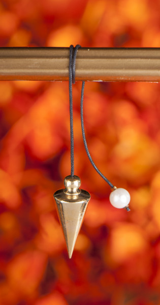 Schraubpendel, Messing poliert