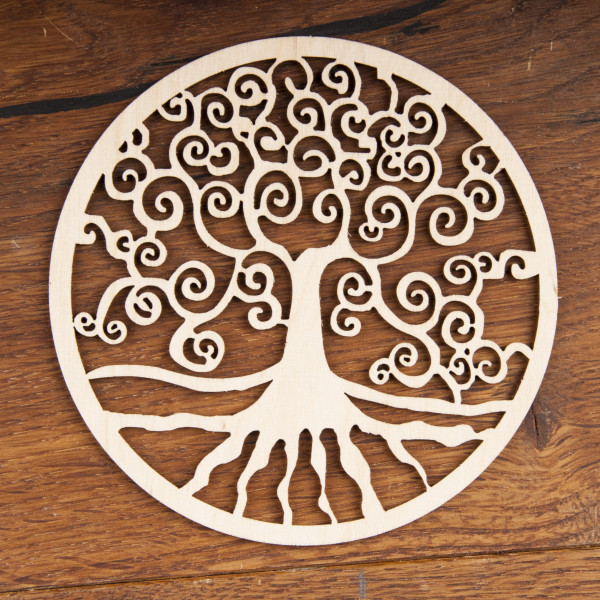 Yggdrasil  aus Holz 12 cm