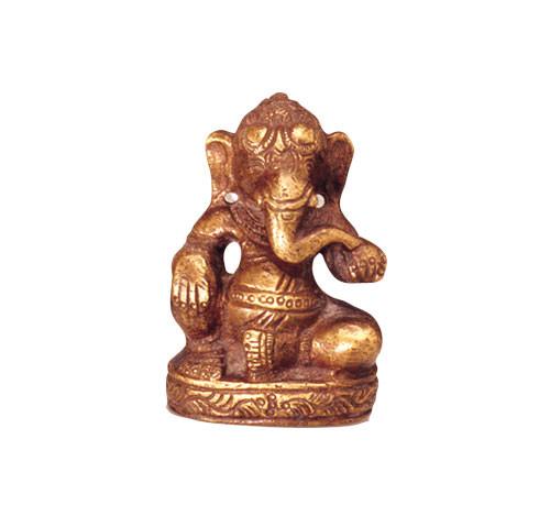 Ganesha sitzend, Messing 6,5 cm hoch