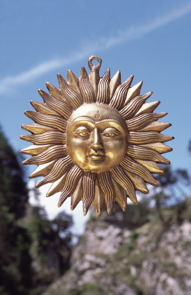 Sonne, Messing, 19 cm