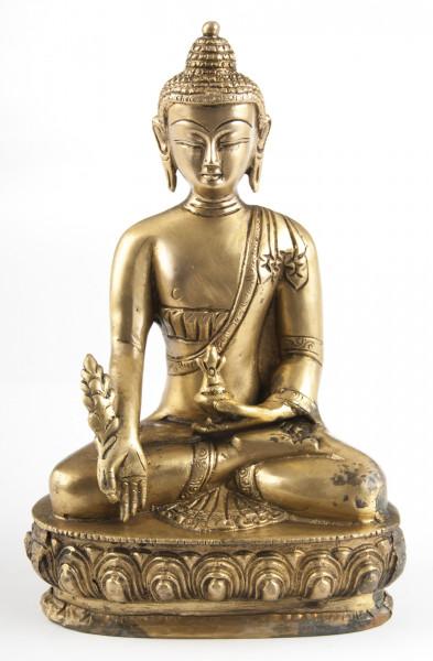Medizin-Buddha, Messing, ca. 20 cm