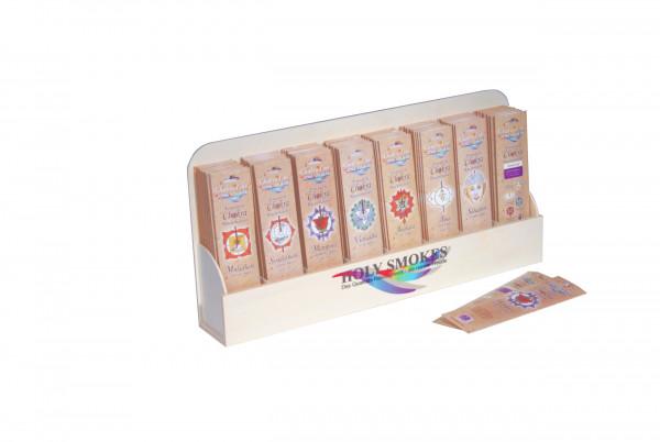 Display für Räucherstäbchen aus Holz