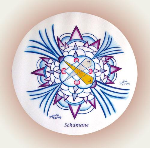 Schamane - Mandala 11,5 cm