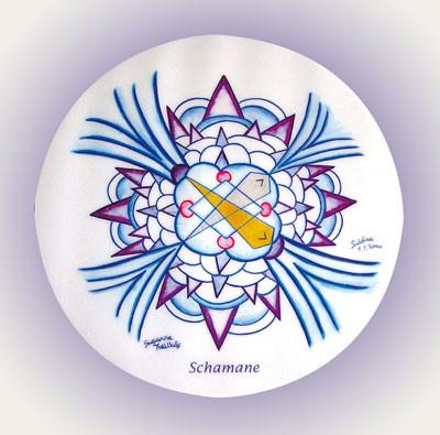 Schamane - Mandala 5 cm