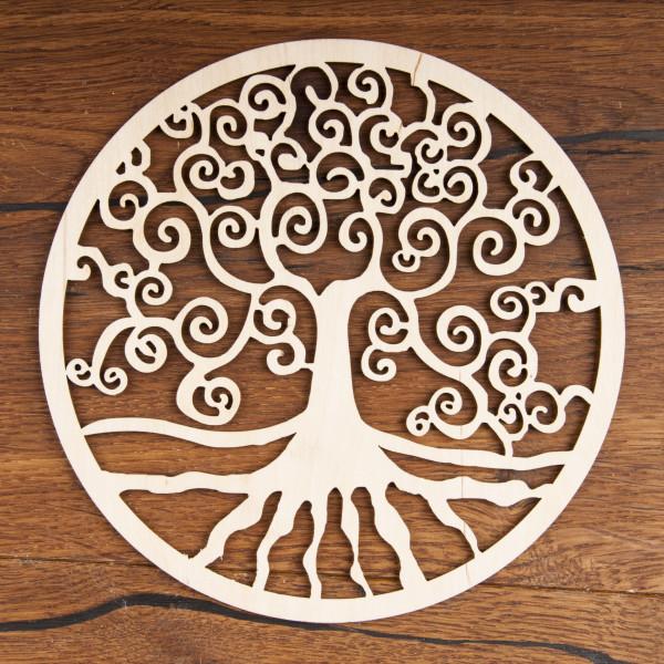 Yggdrasil  aus Holz 18 cm